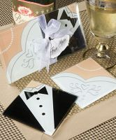 Glass Wedding Coasters (Bride An...
