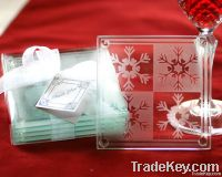 Glass Coaster Set (Snowflake Cry...
