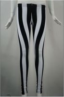 Leggings (Black And White Strip ...