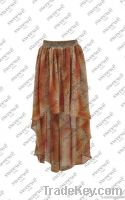 SWEEWE PRINTED ASYMETRICAL SKIRT