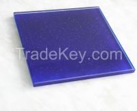 8MM Blue Shining Tempered Glass