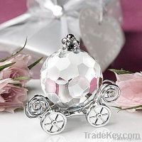 Crystal Cinderella pumpkin mini-coach decoration element