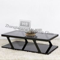 10MM Black Tempered Glass As Sofa Table Top