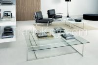 10MM Clear   Tempered Glass As Occasional Table