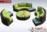 Modular Circle Style Rattan Sofa Set
