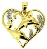 10K Yellow Gold Pendant With Diamond