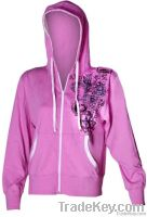 Ladies Pink Zip H...
