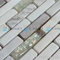 Stone Mixed Glass Mosaic, Wall Tile Backsp...